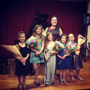 Flowers for the award Winning Students from NYC Piano School music lessons and teachers.
